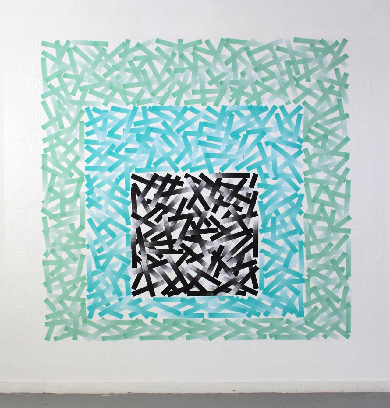 Square 2011 Paper, statically charged polypropylene 240cm x 240cm
