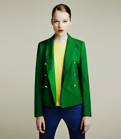 evachen212:  I promise this is the last Zara look I post. but how great is this colorblocked look? the hair & makeup = pure perfection as well