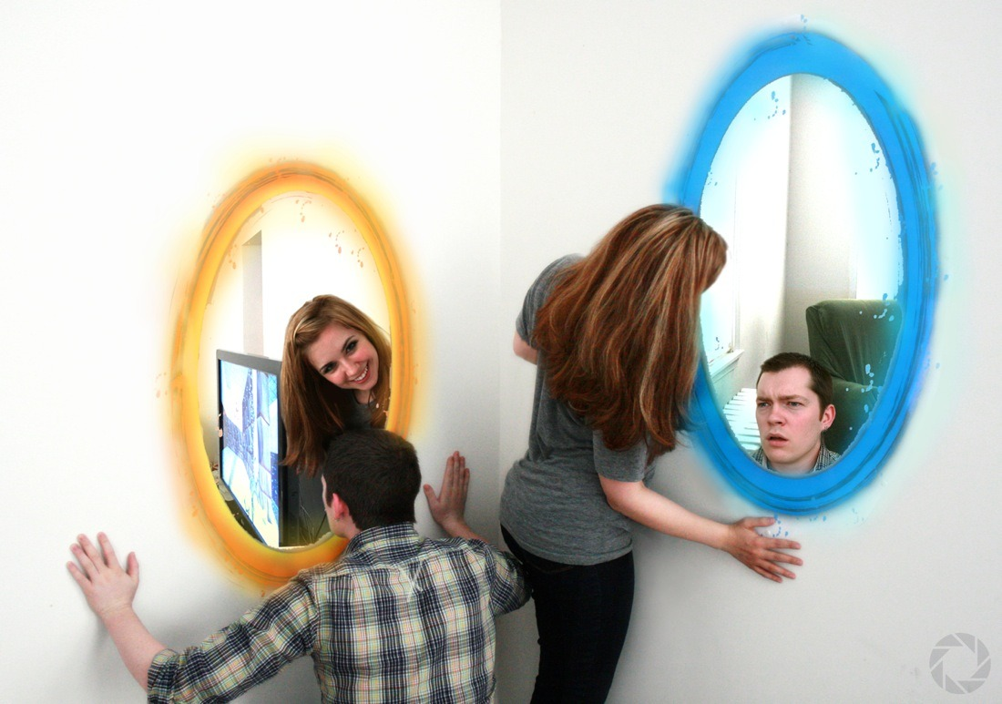 Portal themed engagement shoot!