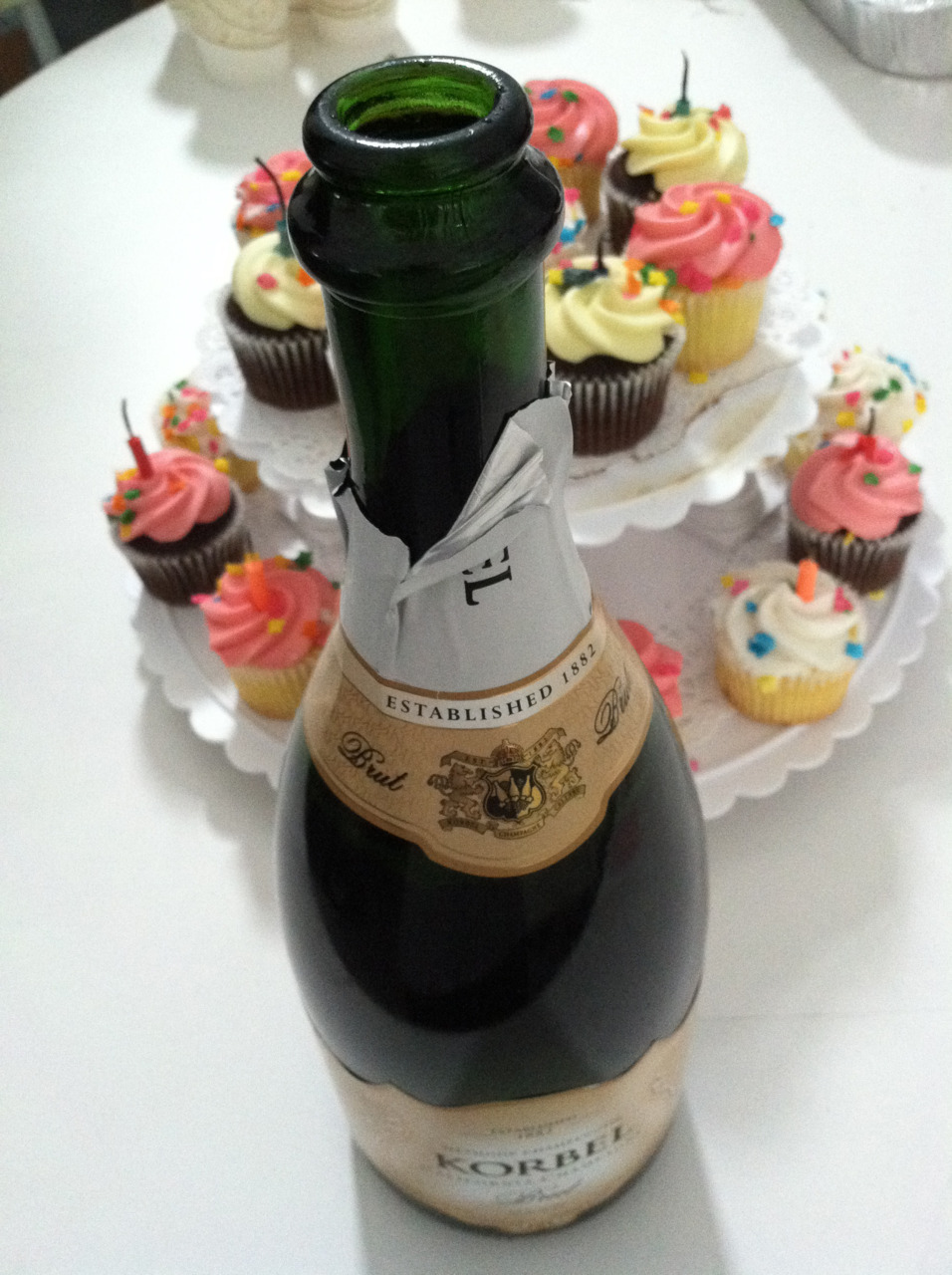 Cupcakes and champagne on my last day at Steve Madden.  Photo credit: Lush Lady