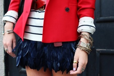 navy feather shorts. word!