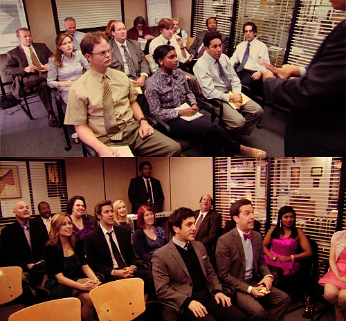 I Cant Believe Dwight wasn't there. But still a great moment