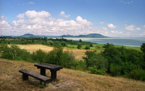 Szépkilátó (lookout - literally translated as 'beautiful lookout') in Balatongyörök, Hungary