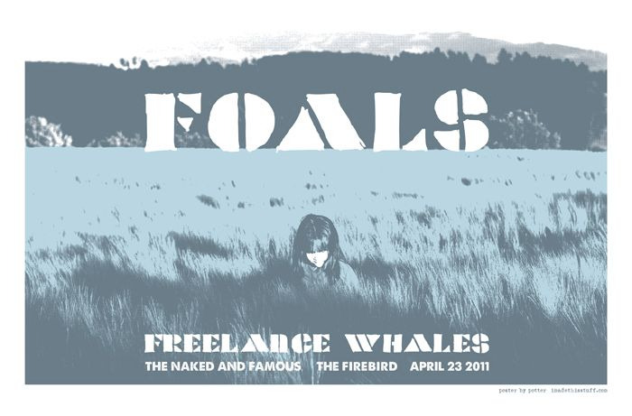 New poster: @FoalsFoalsFoals / @FreelanceWhales / @TNAF tomorrow night @firebirdstl