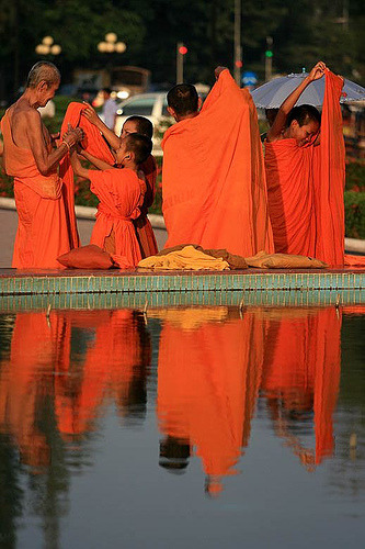 Monks at Vientiane, Laos