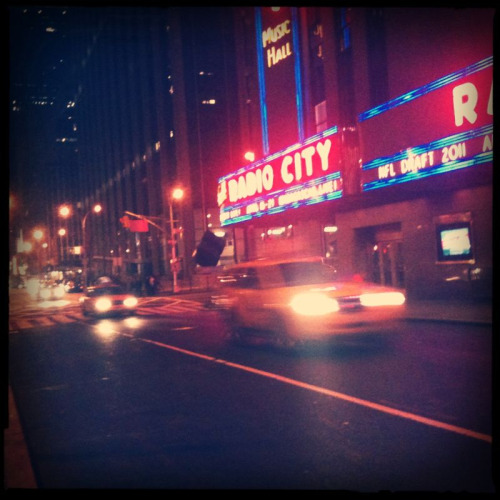 Zooming past Radio City.