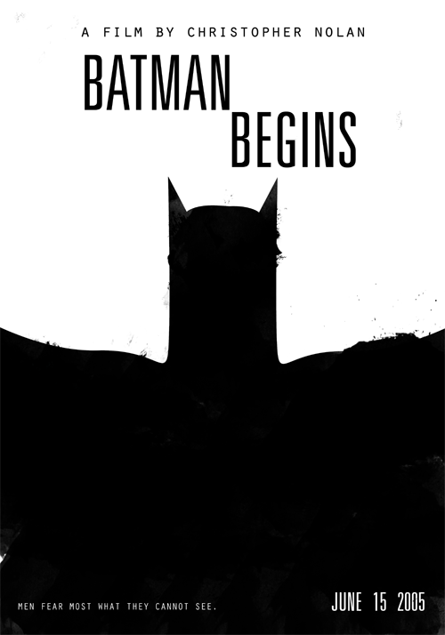 Batman Begins (2005)Christopher Nolan's Films in Black & White Poster Set ( 4 of 8 )Buy Print   |   By Edson Muzada