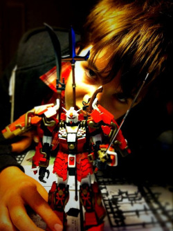 Lochie, the legend who assembled this Gundam for me ;) I think he's hooked on them now, so I'll have to get him one as a huge thank you!