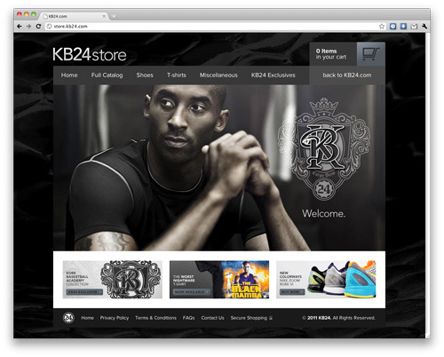 I just launched the Official Online Store of Kobe Bryant. http://store.kb24.com/ All design, IA, and code (HTML5 + Liquid/Ruby), by Create.ph via HS3.