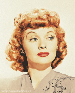 vintageluvv:  colorized lucy by me. original here.
