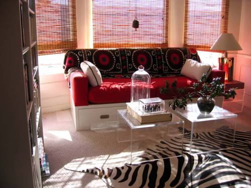 Zebra hide and suzanis always make a perfect pairing!