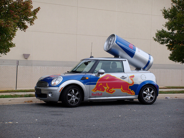 Mini Cooper Red Bull @ Fairfax VA 4 on Flickr.Red Bull Mini Cooper car w/dummie