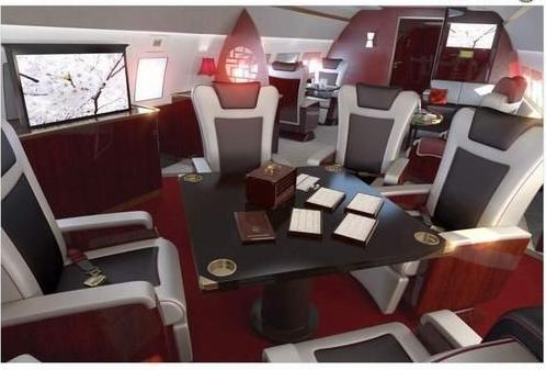 "ng-eeling:  Oh My 天!! ""Airbus China announced that square mahjong tables will be erected in place of round tables in the company's new business class cabins to cater to Chinese business people's recreations.  The cabins will be named ""Phoenix."" The color theme is wine red, which symbolizes good fortune and joy.  Flyers can also sing karaoke in the Phoenix cabin.""  (Source.)"