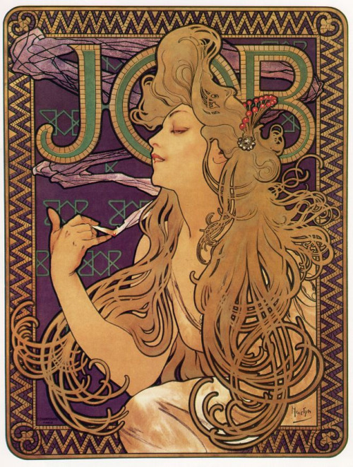 JOB ~ Alphonse Mucha, (Czech , 1860- 1939) - 1896  via