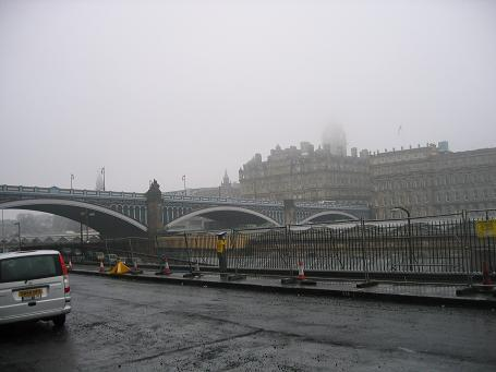 It rains 294 days out of the year in Edinburgh. Today was a normal day in Scotland.