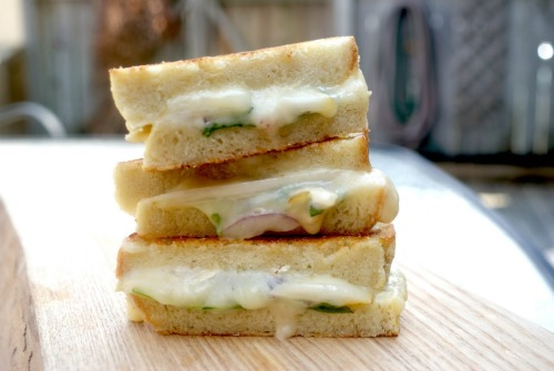 """Grilled Brie & Pear Sandwich"" Click photo for recipe!"
