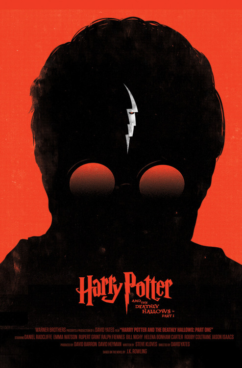 "ilikechameleons:  Alternative ""Harry Potter and the Deathly Hallows Part I"" poster, by Olly Moss."