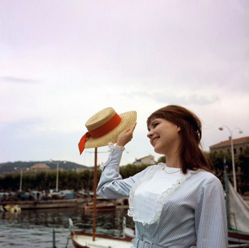rosedarling:  Anna Karina at the 1962 Cannes Film Festival.