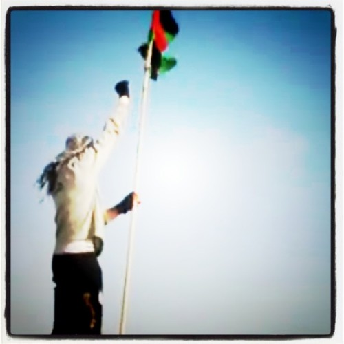 npr:  A Libyan opposition soldier raises the independence flag over a highrise building in Misurata after Gaddafi forces were defeated in the city center. Photo courtesy of Misurata Freedom Group.  Today: The New Yorker's Ryan Lizza details how recent clashes in the Middle East have remade President Obama's foreign policy.