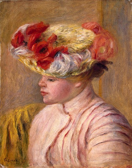 Pierre-Auguste Renoir Young Woman in a Flowered Hat  1892
