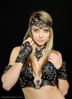 Ricki models Organic Armor's Winter Goddess set, photo by Nick Adams