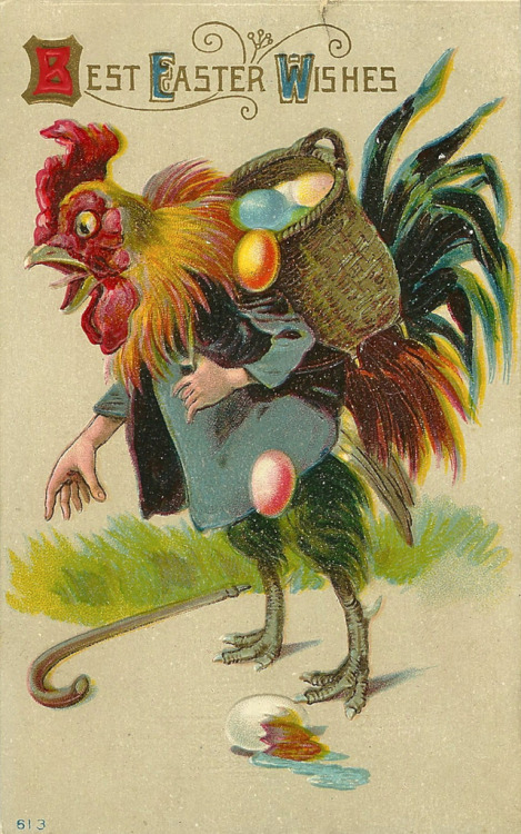 "mudwerks:  Clumsy Man-Handed Rooster (by Namey McNamerson)  ""To my dear brother Johnnie Brookman, from your sister Lettie Smith""   Um…the Easter Cock?  Even my agnostic ass finds that fairly blasphemous. Ag"