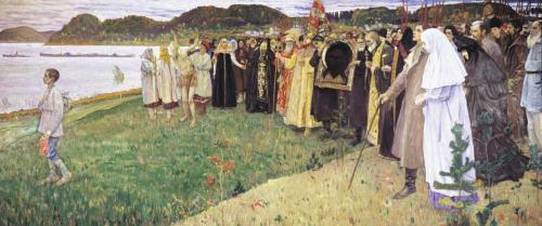 Mikhail Nesterov - Soul of the Russian People, 1916