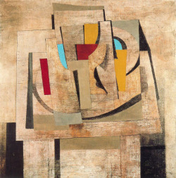 "rmgdesign:  Ben Nicholson Still Life, 1945, oil on canvas, 27"" x 27"". Via Mid-Centuria"