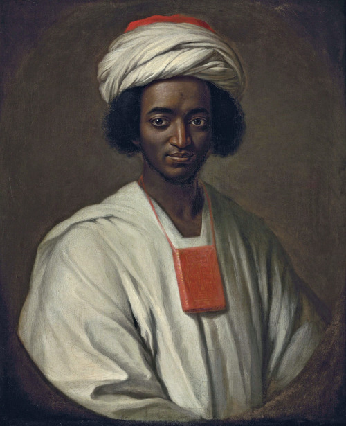 18thcenturylove:  Ayuba Suleiman Diallo by William Hoare   Painted in 1733.  Diallo has an interesting story- captured as a slave from Africa and sent to Maryland, he eventually came to England where he was freed and able to return to his homeland. Here's more.