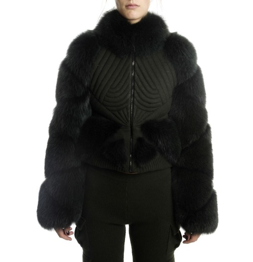 lacollectionneuse:  bomber jacket with fur and piping details • louise goldin€ 2430,00  I need this in my life right now.