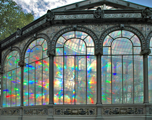 sunsurfer:   Sunrise Kaleidoscope, The Crystal Palace, Madrid, Spain  photo by rduran