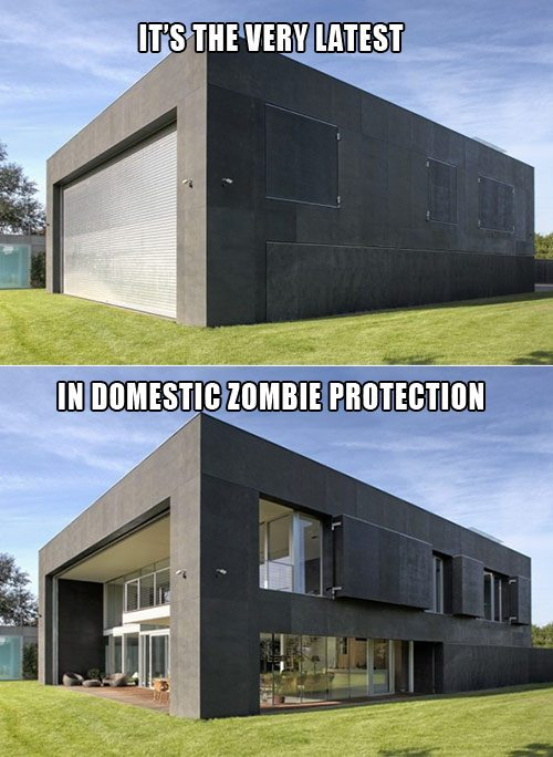 I shall never, ever be scared again as long as I live in that house for the rest of my mortal life.