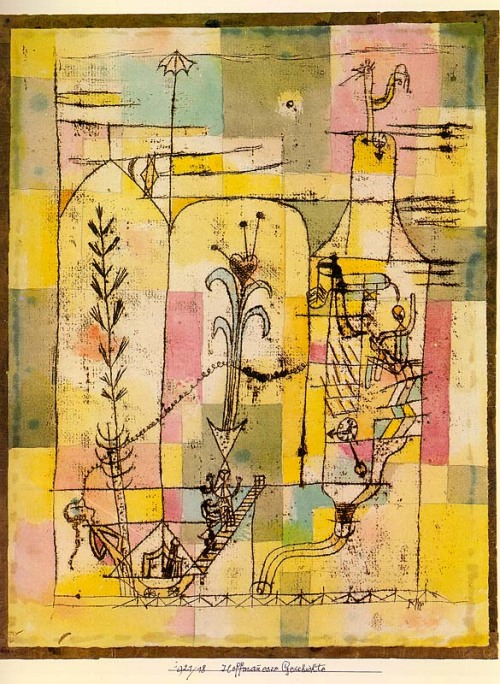 Love Paul #Klee f-featherbrain:  Paul Klee Hoffmanneske Szene (via Art might)