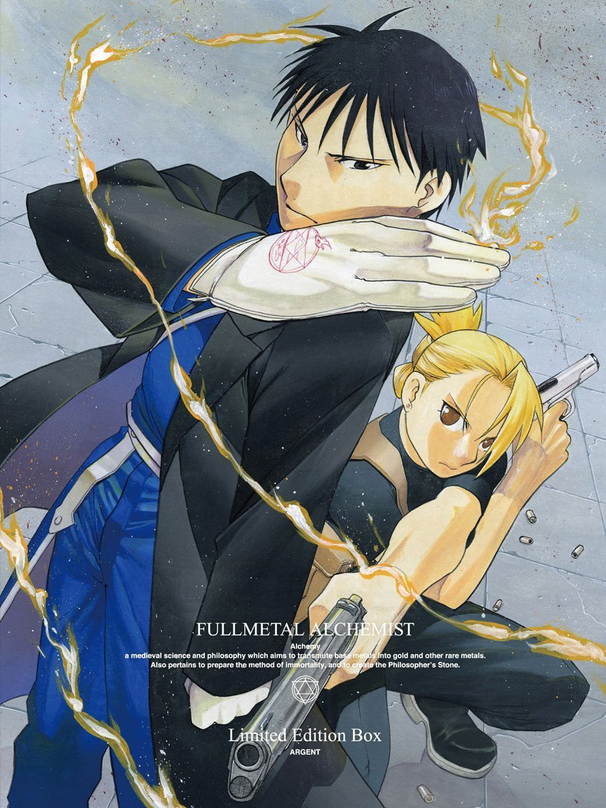 "greedtastic:  From the newly published FMA artbook: Comment by Arakawa-sensei on her drawing of Roy and Riza for Anime DVD/BD vol 2. Special first-print bonus gift box:> Arakawa: After the conclusion of the series, we got many questions from fans that were asking ""aren't the Colonel and the Lieutenant going to get married?""> Arakawa (cont.): [I can't get them married because..] because of the Military regulations, if they get married they can no longer stay as the superior officer and [his] aid…."