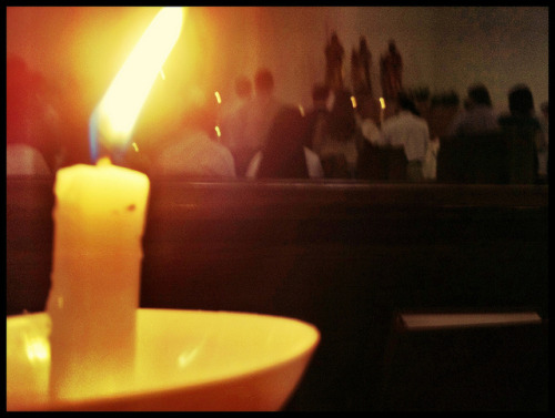 112/365 on Flickr.Easter Vigil Mass.