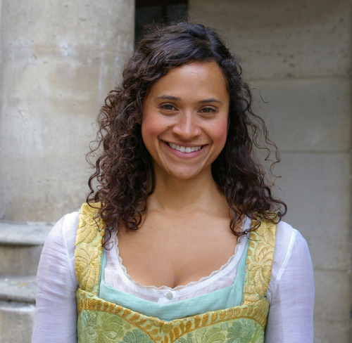 The gorgeous Angel Coulby on set in June 2009