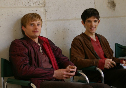 Our lovely boys on set in June 2009