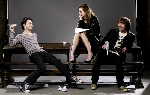 Daniel Radcliffe, Rubert Grint and Emma Watson