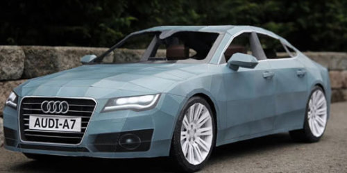 idroptheatomicbomb:  The biggest paper craft by Taras Lesko Audi A7 Paper figure
