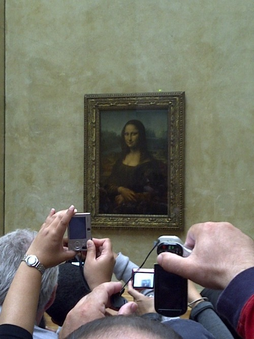 Saw the Mona Lisa up close, well as close as I could get.