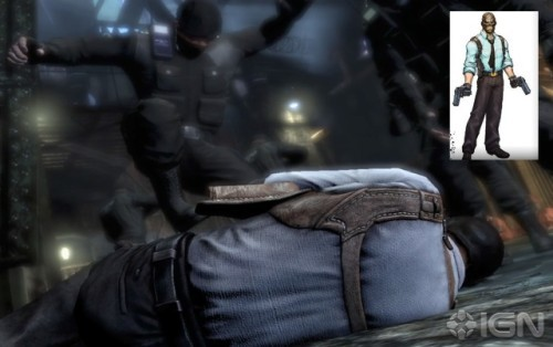 This frame taken from an Arkham City trailer reveals what looks like Black Mask…