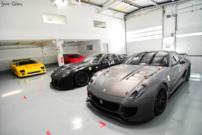 2 Ferrari 599xx's in 1 Garage. Heaven must feel just like this.