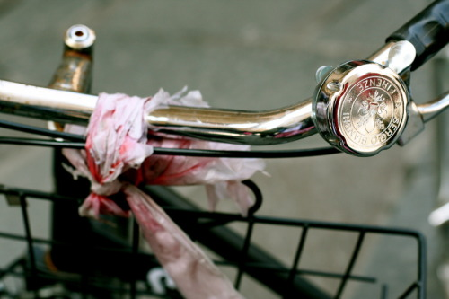 jenasingmeasong:  bicycle in florence. love the bell.