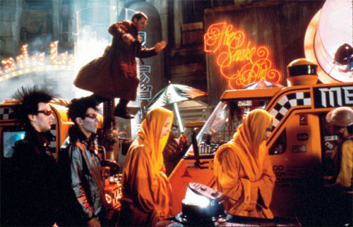 Dear people who don't like Blade Runner, your opinion is bad and you should feel bad. As a consolation for being a bad, wrong person, here is Harrison Ford leaping through traffic in the future.