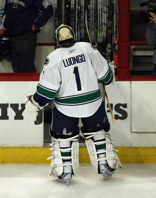 "Phrase not often heard in the NHL: ""Here's Roberto Luongo coming in in relief of Cory Schneider."" (AP Photo)"