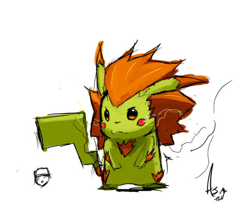 superturbopod:  I knew Pikachu and Blanka were related somehow!   Blankachu