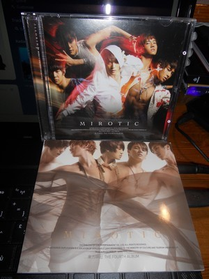flylikegtop:  Okay so, let's start my first giveaway ! This is the 4th album of DBSK, 'Mirotic', with the mini-photobook with 60~pages. All the photobook is clean, I just leafed through it, and the CD is in a perfect state. If you want more precision, just ask me. :) So, this is the rules : You need to reblog it, obviously. I don't give a maximum, but please, try to don't spam your followers' dashboard! Like it if you want. You don't need to follow me, I don't do this for earn followers!  As it's a K-pop album, your blog must be in relation with k-pop, I'll check it. I'll use a random website !  This giveaway will end in May 25th 11PM (with WET, Western European Time), one month after the beginning. Free shipping everywhere. The winner must reply in 48 hours or a new winner will be picked !