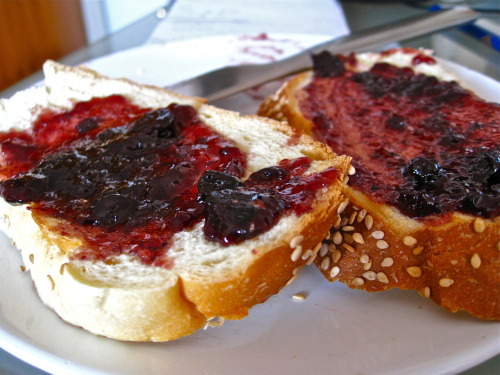 Warm bread, butter, jam. So simple, yet so satisfying. Happy Monday.