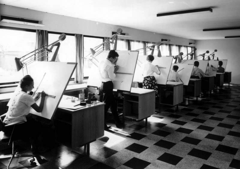 jasonzimdars:  Lego graphic design department, 1962
