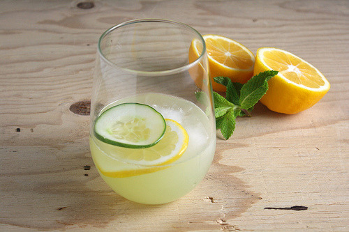 haygirlhay:  Cucumber Mint Lemonade Just add gin.  I strongly recommend to read her blog and make it yourself :)